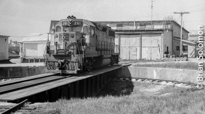 Maine Central's Rockland, Maine Roundhouse—August 1980.