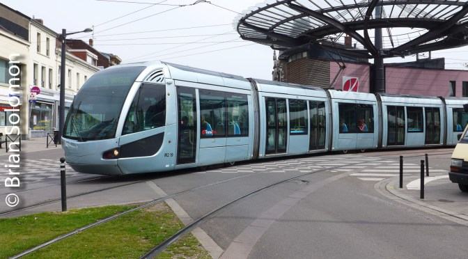 Modern Alstom Trams in an Old French City; Valenciennes—22 April 2016 Part 2.