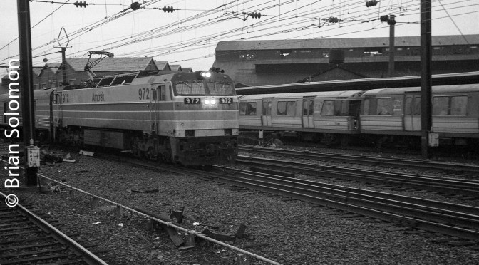 Retrospective in 3 Photos: Amtrak E60s in the Early 1980s.