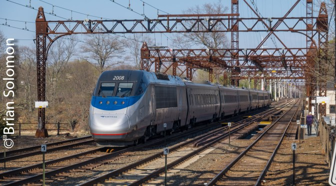 Acela Express Cross-Lit on the Draw.