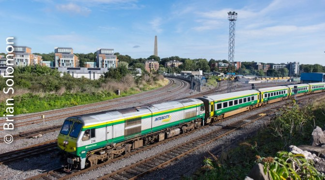 Irish Rail 218—Sunny Days and Cloudy Days.