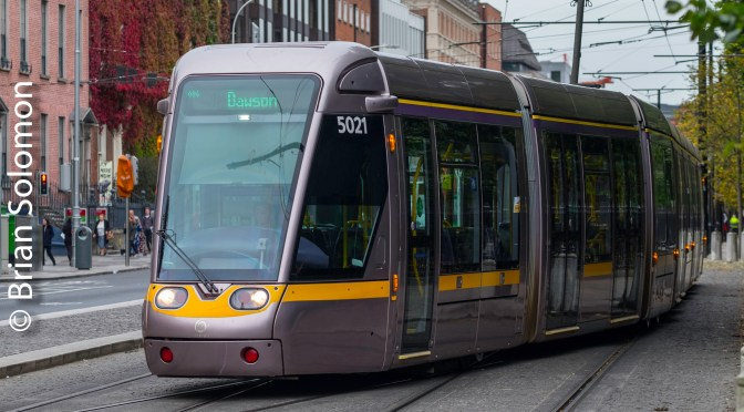 Tracking the Light EXTRA: LUAS Green Line to Dawson.