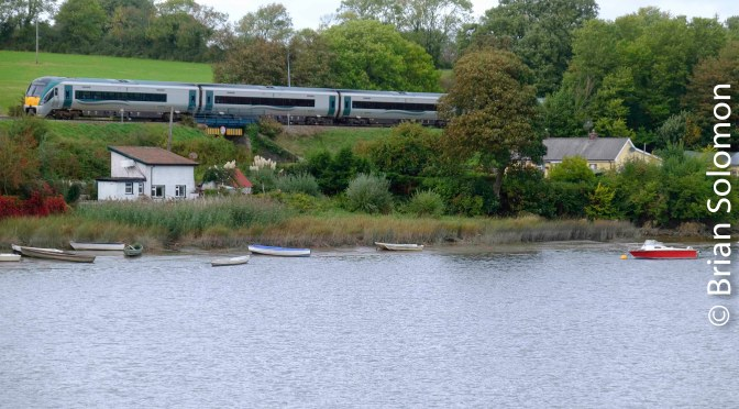 Rails along the River Slaney—Killurin, County Wexford.