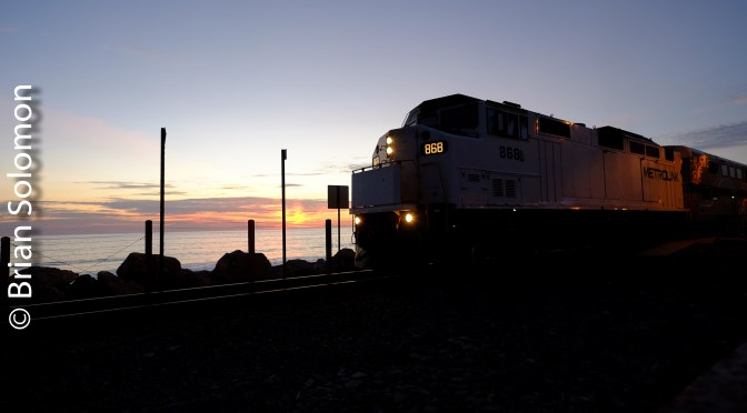 Metrolink Pacific Sunset.
