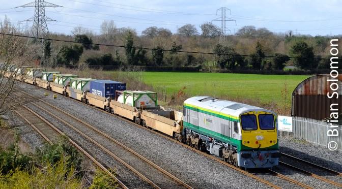 Irish Rail 232 in 2017; A 201-Class in Fresh Paint.