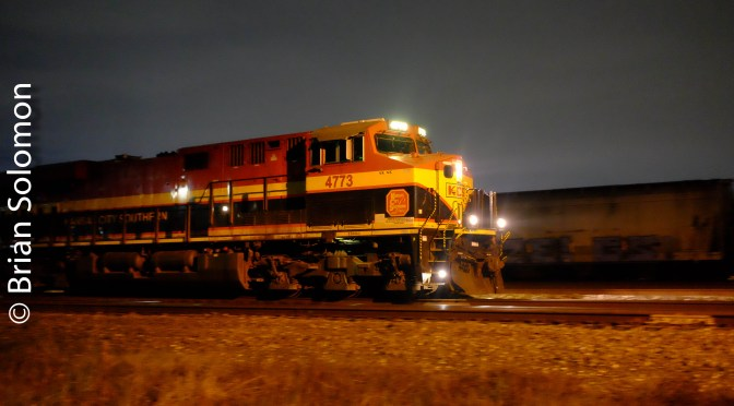 Houston Rail Freight at Night—December 18, 2018.