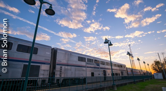 Amtrak Sunset at Beaumont, Texas.