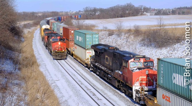A Rolling Meet, a DPU and Sun at Highway F, Byron, Wisconsin.