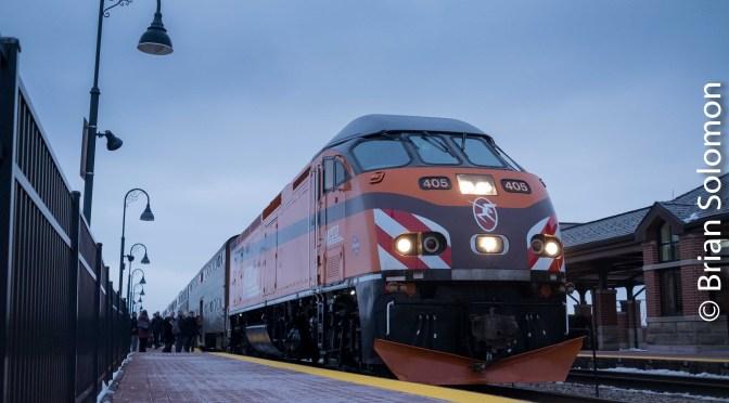 Chicago Metra's Milwaukee Road Heritage Locomotive—North Glenview.