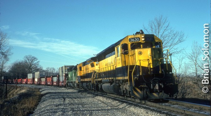 On the old Erie Railroad 30 years ago Today!