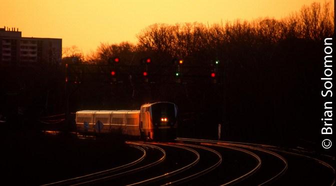 VIA Rail—Sunset and Signals.