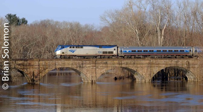 Another View: New Haven Railroad's Stone Arch Bridge at Windsor, Connecticut.