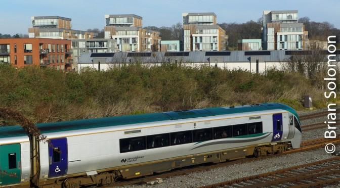 Brian's Morning View at Islandbridge: An Irish Rail ICR with Purple Doors?