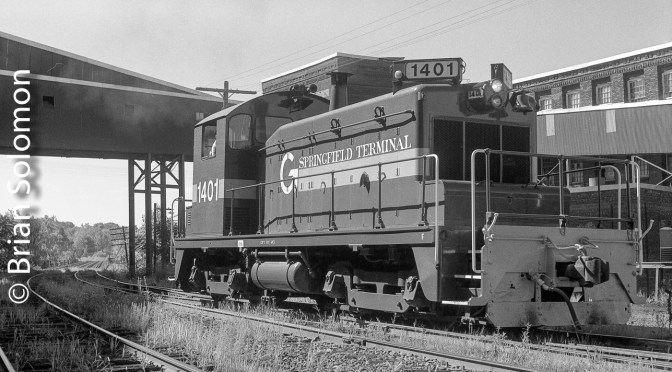 Pup on the old Boston & Maine: SW1 at Holyoke—August 1987.