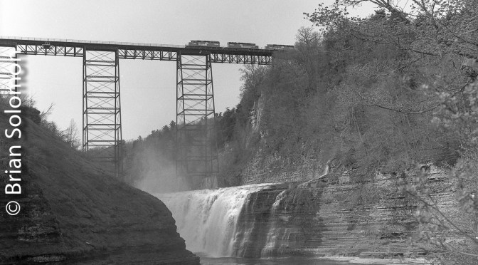 Conrail at the Portage Bridge Letchworth Park, New York.