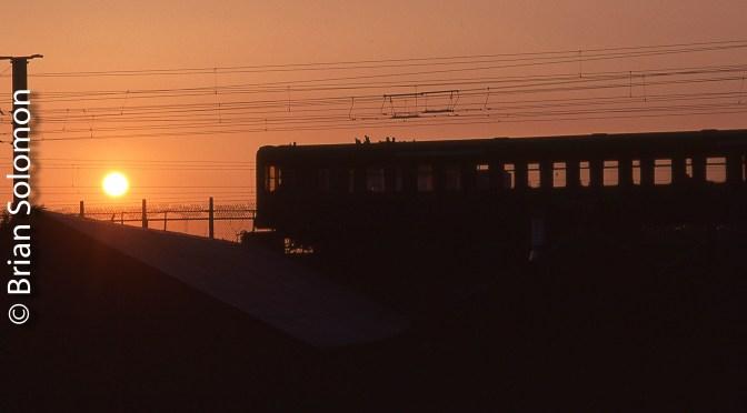 DART Sunset at Ossory Road—Dublin.