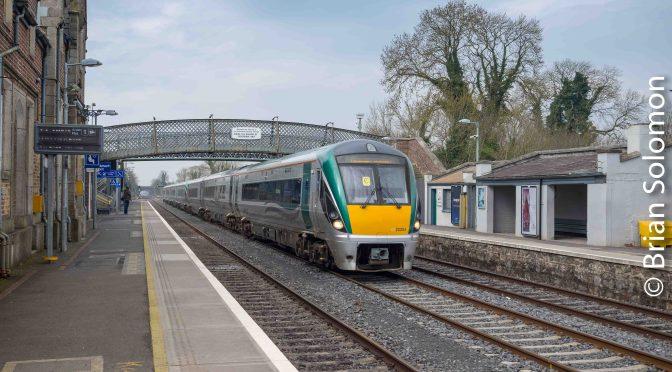 Irish Rail ICRs at Kildare.