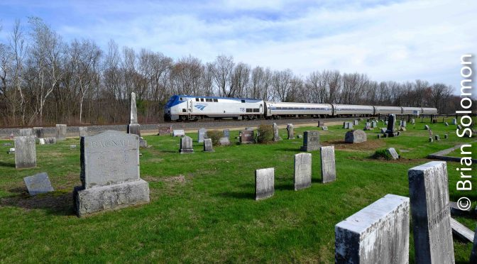 Amtrak's Vermonter passes West Northfield.