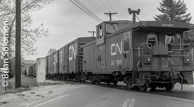 Close Cropped Caboose: Central Vermont freight at South Monson.