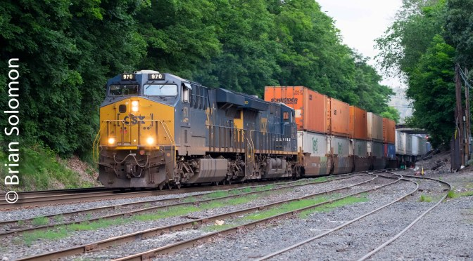CSX: Early Morning Intermodal—five views and the Spirit of Ravenna.