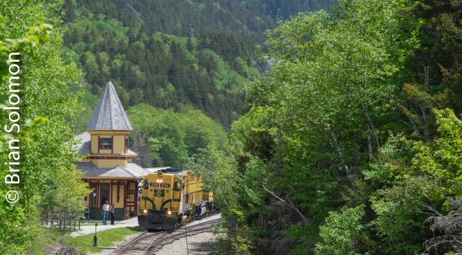 First Trains of the  Season at Crawford Notch.
