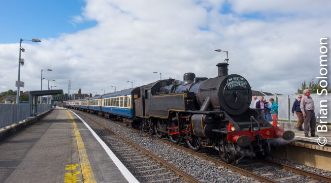 Steam Dreams behind RPSI number 4 at Portarlington.