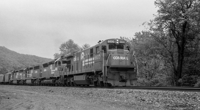 Sound of Power: Conrail Ballast Train June 1984