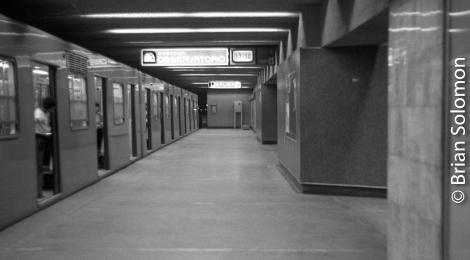 Mexico City Metro—40 Years Ago.
