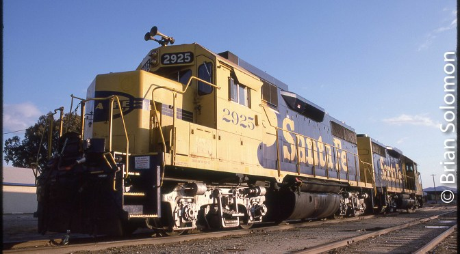 Santa Fe at Perris, California.