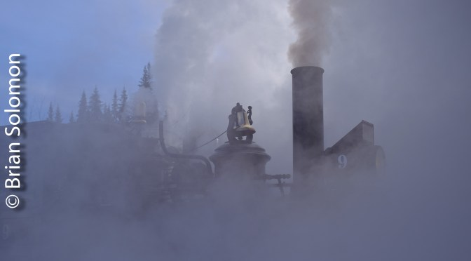 Number 9 Bathed in Steam—Three Photos.