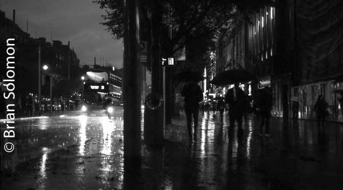 O'Connell Street in the Rain.