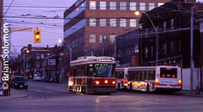 Toronto Transit Commission—Two Photos from Ten Years Ago.
