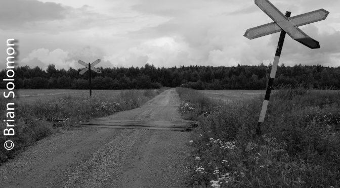July 24, 2015: WAITING AT A Grade Crossing at Niskaniitty—Two PHOTOS.