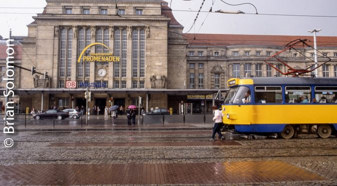 Leipzig tram and Hbf.