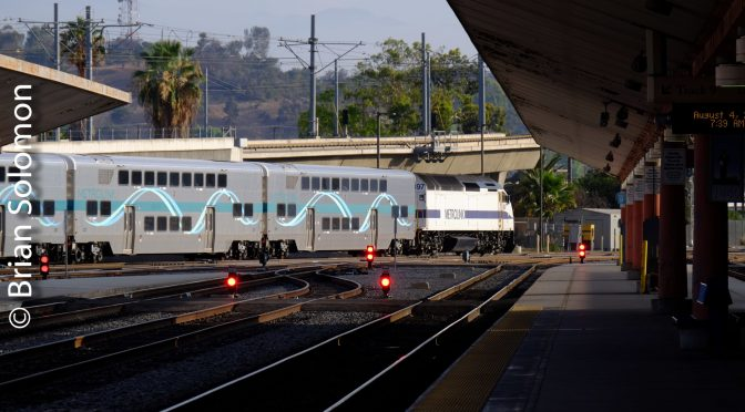 Metrolink MP36 diesels—Close Up and Distant