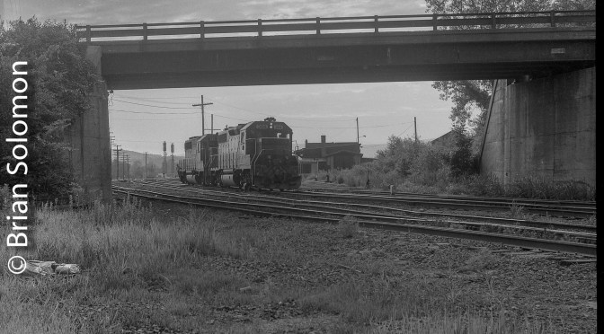 Old View of Old East Deerfield Railfan's Bridge.