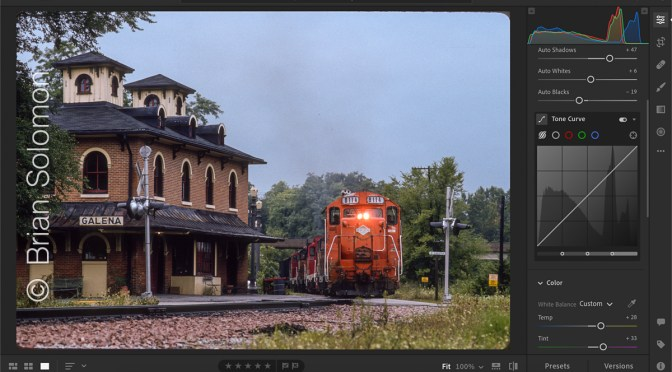 Classic Chrome Color COrrection—Coal Train at Galena, Illinois.