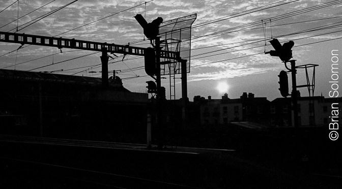Dublin Monochrome Sunset—12 APril 2003.