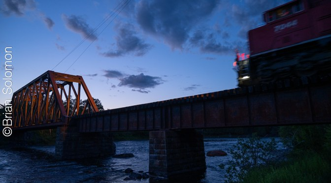 Kennebec East Outlet at Dusk—two views.