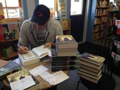 Author Brian Staveley at Bartleby's Books in Vermont