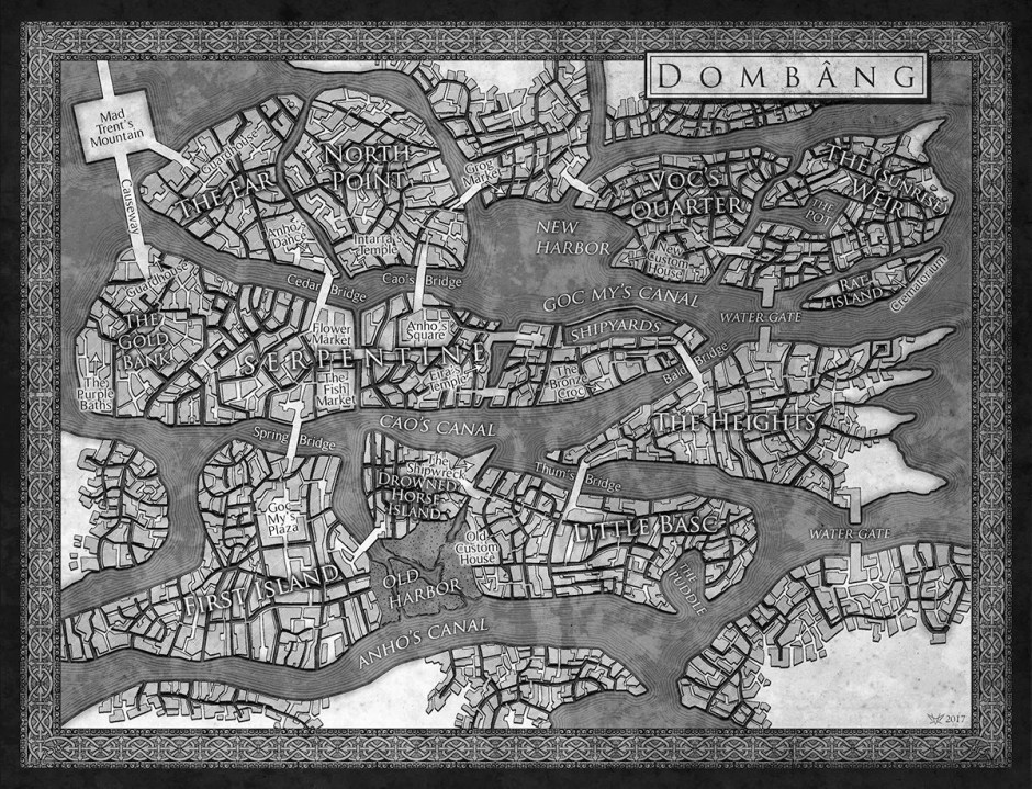 Map from Skullsworn by Brian Staveley