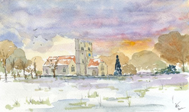 Boxley Church in Winter