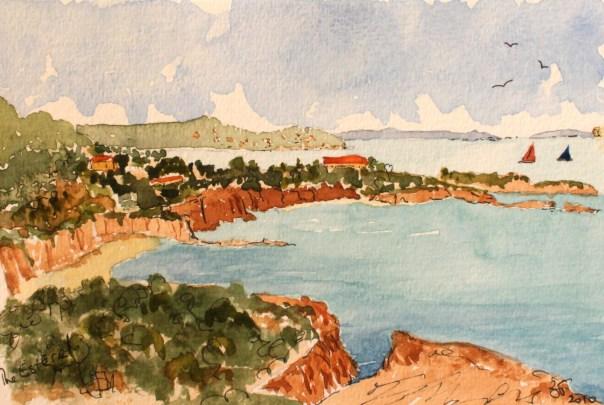 The Esterel coast at Miramar