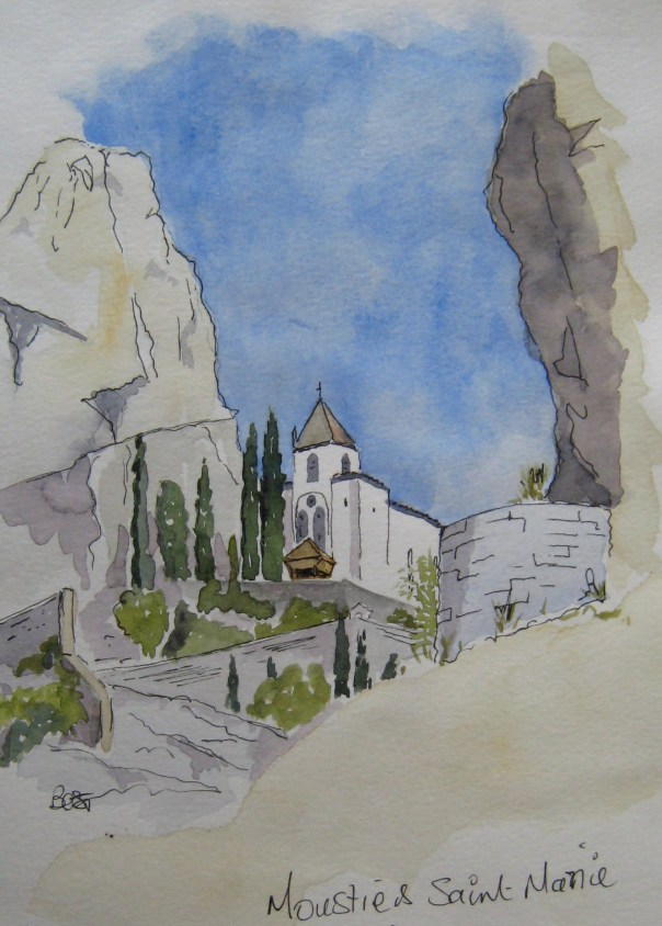 The Chpel at Moustiers St Marie from the town