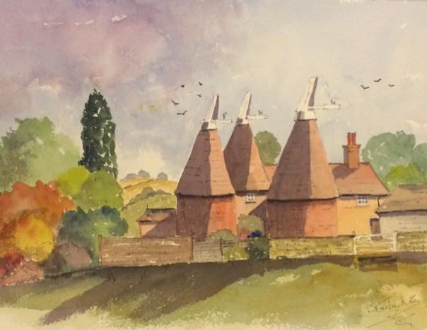 Oast houses near Laddingford