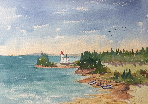 Blockhouse road Lighthouse on PEI