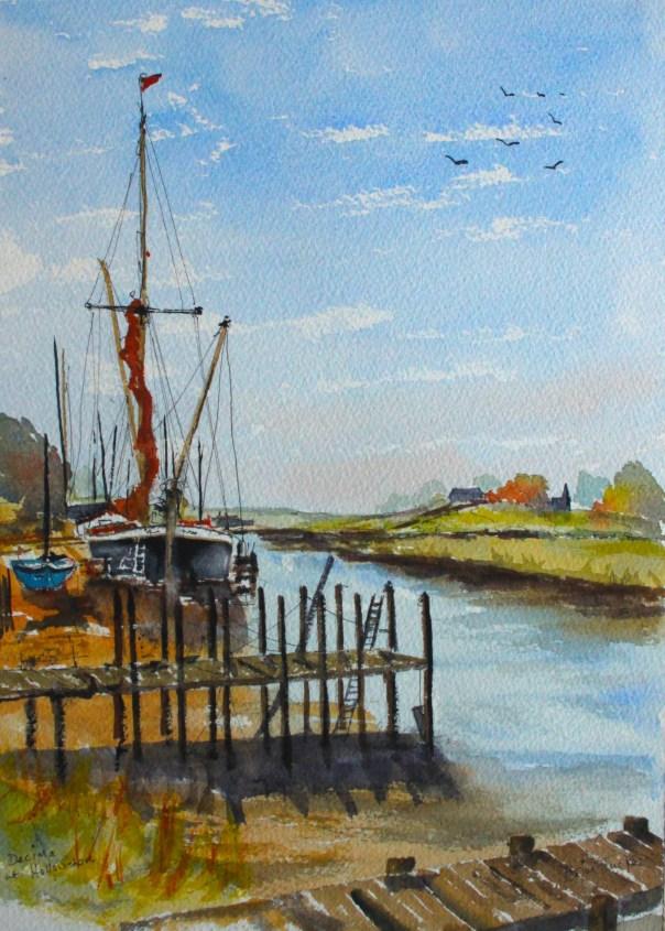 Barge at Hollowshore
