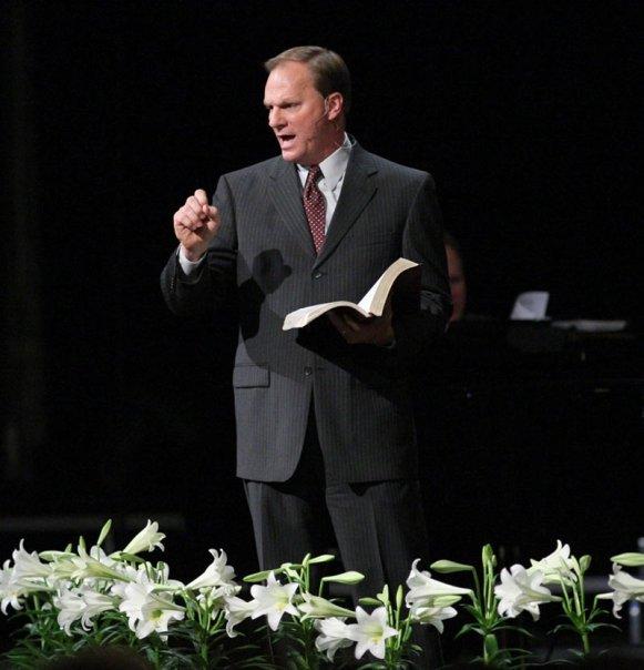 Chris Philbeck, Sr Pastor, sharing God's Word