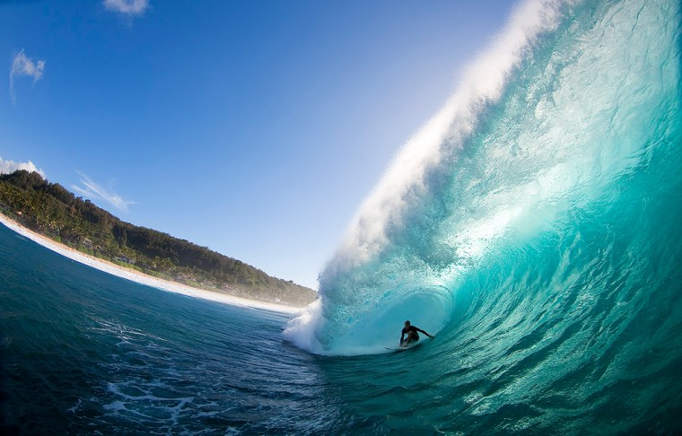 Pat Gudauskas at Pieplin on Oahu. . Photo: Noyle