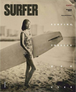 First all-woman issue of Surfer, 2018